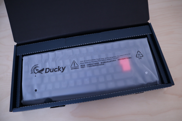 Ducky One 2 keyboard in opened box