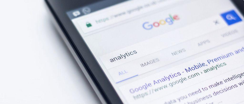 Phone with Google search - keyword analytics