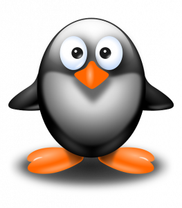 A cute animated penguin